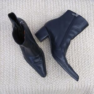 Harley Davidson Black Leather Ankle Boots Sz 6.5
